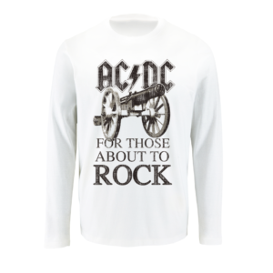 AC/DC FOR THOSE ABOUT TO ROCK Μακρυμάνικο T-shirt