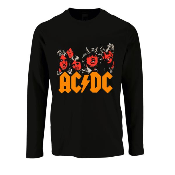 AC/DC T-shirt με μακρύ μανίκι
